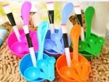 diy调面膜美容美妆用品工具套装4件套面膜碗面膜棒面膜刷 硬盒