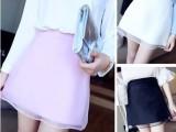 8907 夏季网纱拼接a字半身短裙批发 韩版女装一件代发 免费代