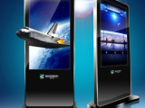 55寸液晶广告机 银行大厅专用液晶广告机 落地液晶广告机