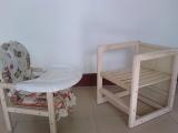 厂家直销 免漆 儿童木制餐椅