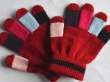 **六一儿童手套 针织腈纶儿童五指手套