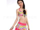 高品质 泳衣女分体裙式泳装 分体泳衣钢圈