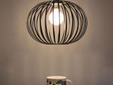 北欧宜家单头过道灯复古 简约铁艺咖啡吧台卧室客厅餐厅工业吊灯