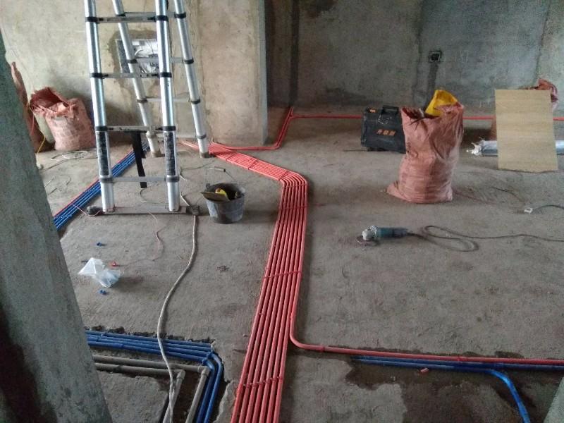 做水电智能化(PVC活线安装)