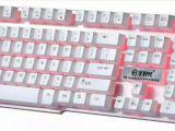 三色背光键盘 E8悬浮按键机械手感游戏键