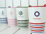 恒德陶瓷 创意陶瓷杯/zakka星巴克/咖啡杯/英伦风条纹杯02