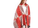 2014新款热销  披肩两用真丝围巾    厂家优质供应*