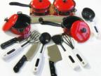 批发餐具13件套装仿真厨房餐具玩具宝宝过家家玩具益智玩具0.35