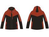 郑州厂家生产定制中小学校服棉服短款最新时尚设计中国红搭配黑色