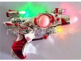 厂家直销新款闪光音乐枪玩具 七彩变色灯光电动枪批发