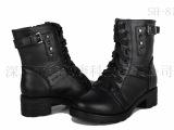 2013新款 远红外遥控电热女式雪地靴 真皮保暖女鞋 充电发热靴