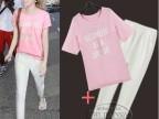 欧洲站2014春夏新款 女装短袖长裤时尚两件套 休闲运动套装