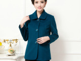 2014秋季新款中老年风衣女 韩版女式短款纯色大衣 中老年风衣韩
