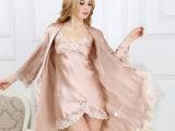 杭州丝绸新品真丝九分袖两件套睡衣桑蚕丝舒