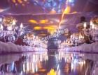 德清厂房粉紫色梦幻厂房婚礼,附布置前后对比图