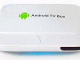 厂家供应现货 高清网络播放器(电视机顶盒 安卓4.2 无线WIF