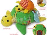 skip hop 亲子乌龟玩偶婴儿玩具 带摇铃响纸安全镜拉震BB