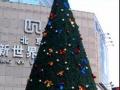 河北石家庄圣诞树厂真树缠彩灯矮树铺网灯幕墙灯饰画