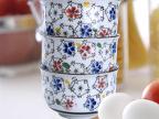 点通陶瓷 日韩式饭碗金钟碗 餐桌用品釉下手彩陶瓷碗 淘宝热卖