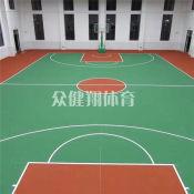 广西众健翔体育教你买专业级硅PU篮球场 南宁硅PU球场工程