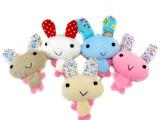 创意新奇特卡通大耳朵兔子毛绒手机挂件 包包挂件