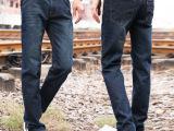 新款男士直筒牛仔裤2039 韩版修身男宽松休闲蓝黑色牛仔长裤63