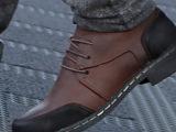 2014秋季头层牛皮磨砂真皮休闲皮鞋 系带拼色男鞋 厂家直销 批
