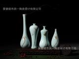 陶瓷花插 观音瓶 景德镇摆件 手绘小花瓶 梅瓶葫芦瓶 陶瓷四件套