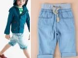 3-13岁 外贸童装 欧美儿童牛仔中裤 男女中小童水洗薄款五分裤
