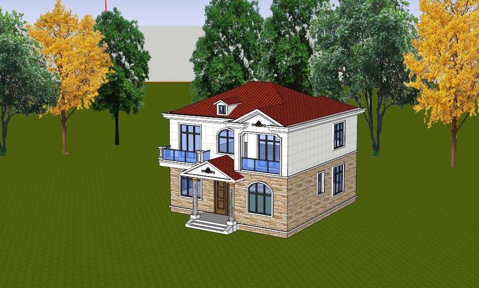 沙湾自建房 别墅 小洋房 乡镇房屋 景观设计及施工
