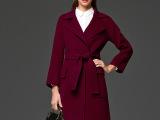 品牌原创设计纯手工双面羊绒大衣批发贴牌分销 女式双面羊毛大衣