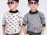 童装批发韩国小熊全棉外贸原单保暖打底衫儿童毛衣中童爆款针织衫