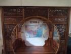 古董木艺家具收藏明清家具黄花梨紫檀宝座顶箱柜架子床等转让