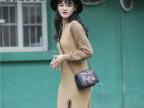 2016冬季女装新款韩版套头毛衣条纹中长