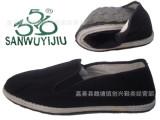 3519男女通用布鞋 黑色男女式单鞋 单位工厂车间松紧口布鞋批发