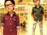 小孩潮宝宝衣服 韩国童装男童衬衫夏装2013新款儿童长袖衬衣