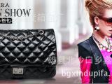 新品包包新款潮女包包黑色菱格纹单肩斜挎包袋零钱包手拿包