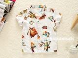 2015爆款外贸童装春夏新款 韩版男童衬衫 人造棉绵绸 厂家直销