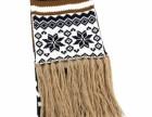 宁波景余服饰针织帽子围巾手套工厂欧美新款针织圣诞雪花提花围巾
