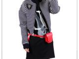 style驿站 欧洲站太空棉黑白条纹棒球服长袖短款外套夹克女秋季