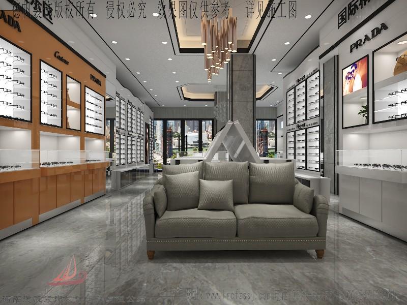 咸阳眼镜店设计装修 眼镜展柜定制制作 眼镜柜台制作