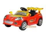 502564 美飞遥控电动儿童汽车可充电红黄2色 遥控坐人童车批