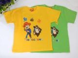 儿童广告T恤衫幼儿园班服定制 纯棉短袖卡通圆领批发 六一促销品