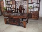 厂家长期供应老船木家具功夫茶桌椅组合古船木茶台
