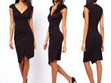 欧美女装2015夏季新款V领性感修身包臀铅笔裙ebay外贸原单连