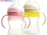 爱乐宝 210ML宽口双手柄硅胶新型奶瓶