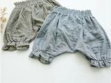 2014夏 女童装 童裤 日系棉麻儿童灯笼裤 短裤 哈伦裤