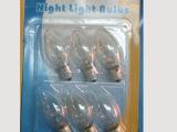 透明C7灯泡、6个一卡装普通白炽灯、小型壁灯配用灯泡