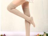 长筒过膝袜子 8字纹青春靓丽过膝袜子 精品秋冬过膝棉袜子 zj8
