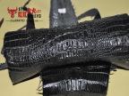 真鳄鱼DIY皮料泰国暹罗鳄 凯门鳄保真整张背皮骨皮鳄鱼原皮手工皮